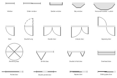 symbol for window in floor plan floorplan shapes window casement uneven door unequal