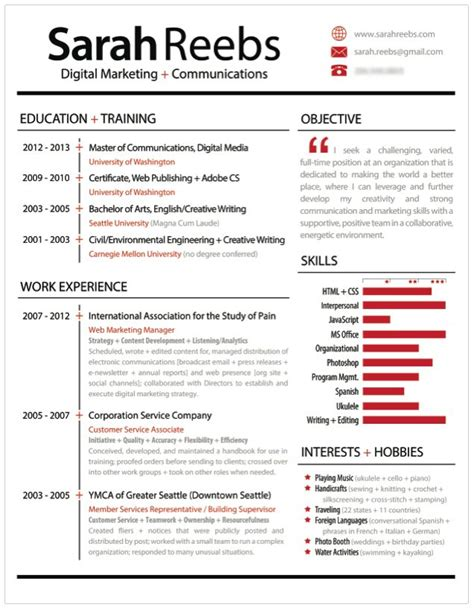 an infographic style resume stands out from basic text