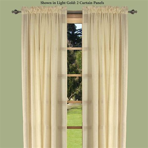Semi Sheer Curtains Lucerne Dual Pocket Semi Sheer Curtain Panels