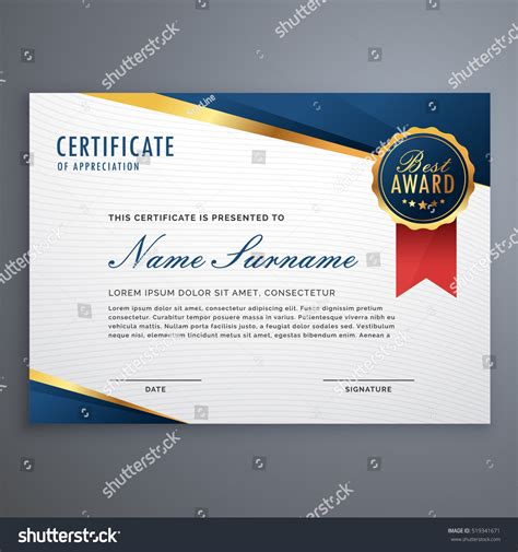 creative certificate templates creative certificate appreciation award template blue
