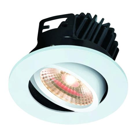 Luxmenn Downlight 7w White knightsbridge fireknight 7w warm white dimmable tilt led