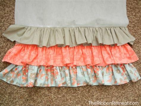 Crib Ruffle Skirt Pattern by Ruffled Crib Skirt Tutorial The Ribbon Retreat
