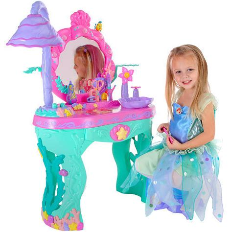 Disney Princess Magical Talking Vanity Disney Princess Ariel Mermaid Magical Talking Salon Vanity Toys