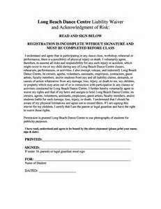 martial arts contract template liability waiver release registration class schedule