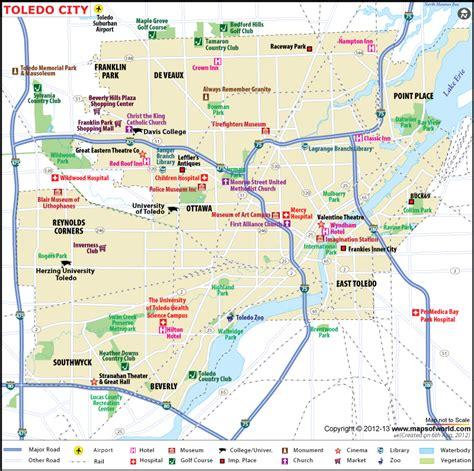 zip code map toledo ohio toledo city map map of toledo city ohio