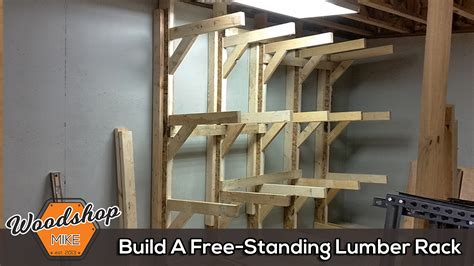 improve shop organization   modular lumber rack