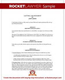 template for writing a will free will template with sle