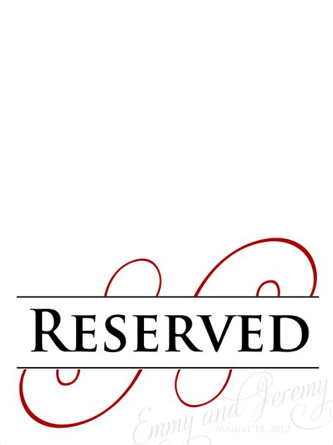 reserved seating signs template free printable reserved seating signs www imgkid