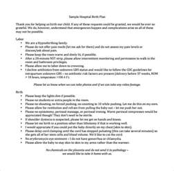 free birth plan template birth plan template 20 free documents in pdf word