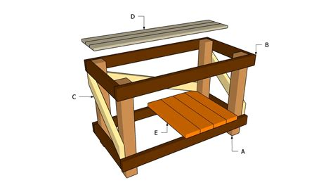woodworking bench plans free plans for building a wooden workbench quick woodworking