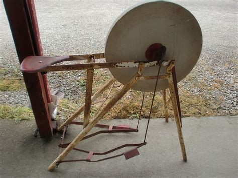 manual sharpening wheel antique wheel with sit pedal stand ebay