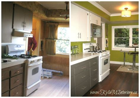 different ways to paint kitchen cabinets before and after budget friendly kitchen remodel with 2
