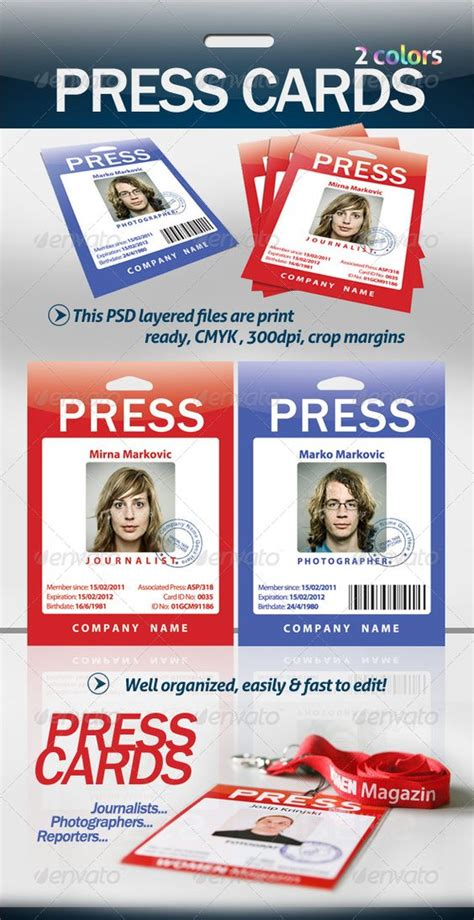 press card template the world s catalog of ideas