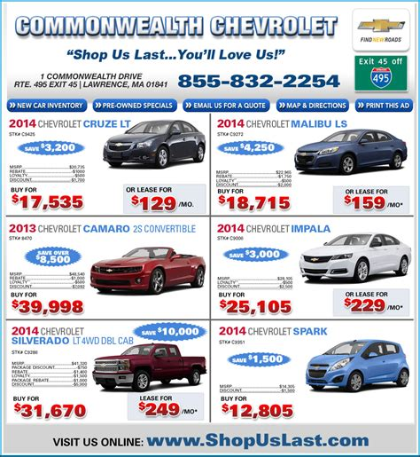 Commonwealth Motors Kia Commonwealth Chevrolet Offers On Boston Ma Chevy Dealer