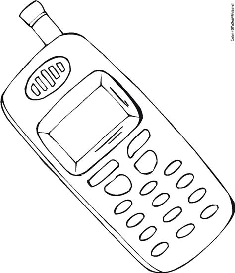 Phone Coloring Page cell phone coloring page az coloring pages