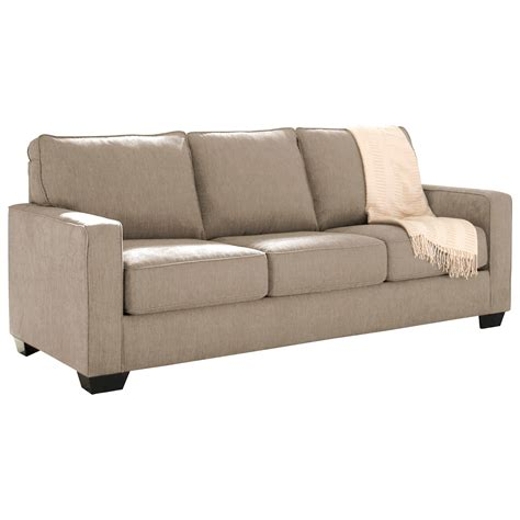 queen memory foam sleeper sofa signature design by ashley zeb 3590239 queen sofa sleeper
