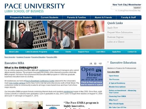 Pace Mba Financial Management by Pace Lubin School Of Business Ranking