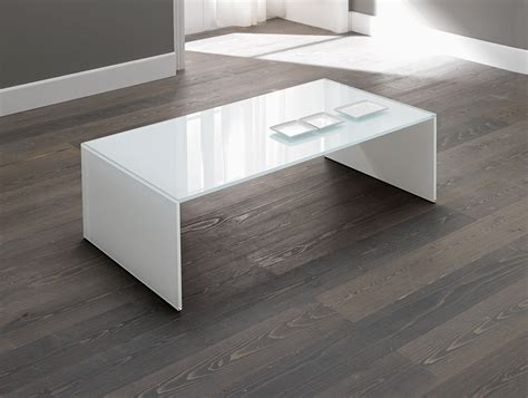 White Glass Coffee Table Nella Vetrina Tonelli Qubik Modern White Italian Glass Coffee Table