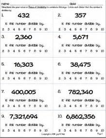divisibility test worksheet division worksheets