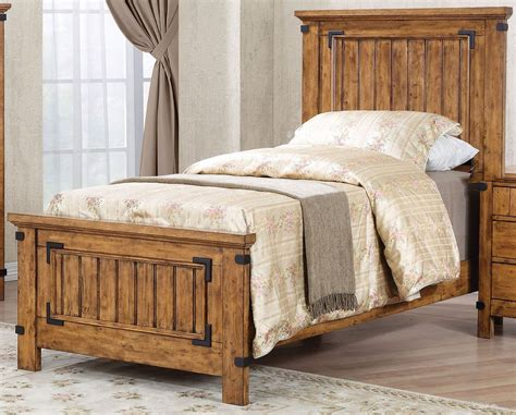 rustic twin bed brenner rustic honey twin panel bed 205261t coaster