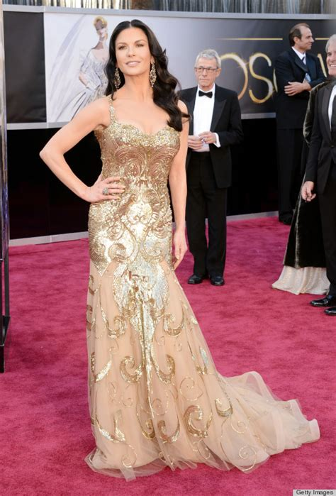 Dresses Ruled At The Oscars Get The Look For Less by Catherine Zeta Jones Oscar Dress 2013 See Carpet