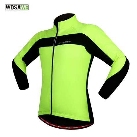 warm waterproof cycling jacket wosawe winter warm thermal cycling jacket bicycle