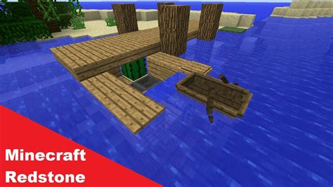 minecraft dog on boat minecraft simple redstone boat dock storage youtube