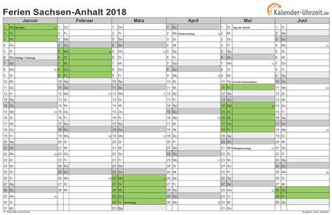 Kalender Sachsen 2018 Ferien Sachsen Anhalt 2018 Ferienkalender Zum Ausdrucken