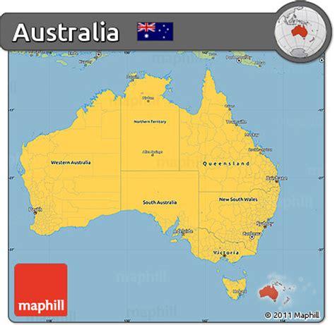 australia map simple free savanna style simple map of australia