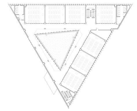 triangle floor plan triangle school by nameless architecture has a three sided courtyard at its centre
