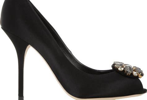When Its Black Go For Something Embellished by Shoeniverse Dolce Gabbana Black Embellished