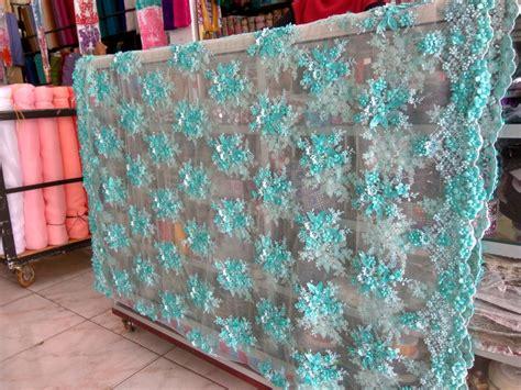 Kebaya Brukat Aplikasi Semi Butik Quality jual kain kebaya brukat payet tosca kain kebaya payet payet murah kain
