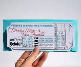 ticket invitation template ticket wedding invitation