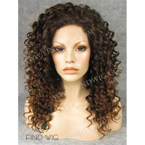 Curly Medium Wig curly chestnut medium wig lace front wig wigs