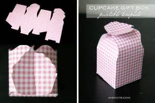 Cupcake Box Template by Cupcake Gift Box Printable Template