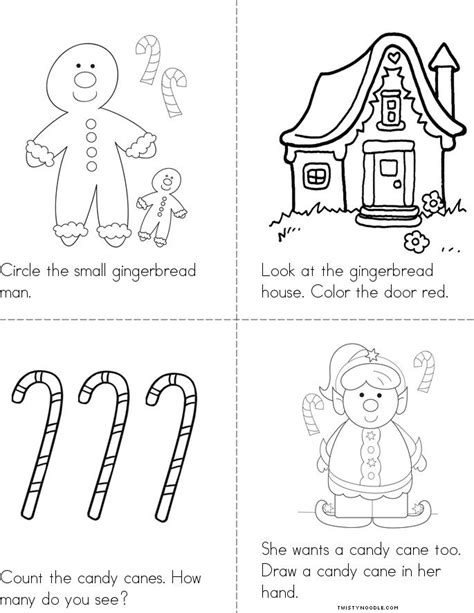 preschool gingerbread man printable book gingerbread fun book twisty noodle