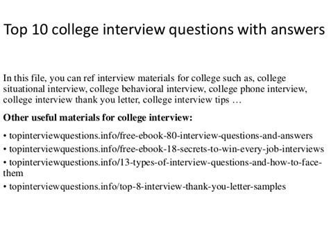 Or Questions College Top 10 College Questions With Answers