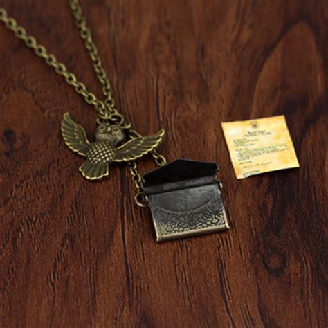 Hogwarts Acceptance Letter Necklace Retail 1 Pcs Post Owl Necklace Hogwarts Acceptance Letter Delivered Pendant Hedwig Chain