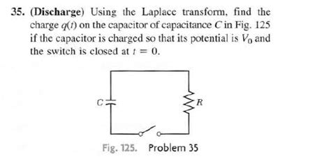 capacitor charge laplace differential equations solve for the charge on a discharging capacitor in an rc circuit using