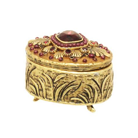 small jewelry box michal golan shop by type gifts small gold garnet oval jewelry box handmade at