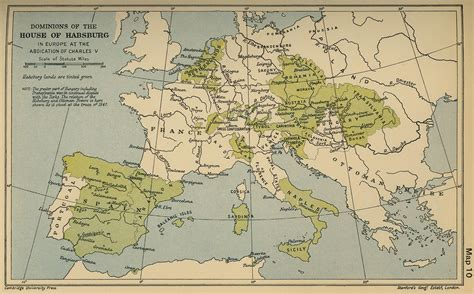 house of habsburg map of the dominions of the house of habsburg in 1558