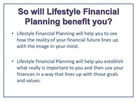 What Is The For Mba In Financial Planning by What Is Lifestyle Financial Planning