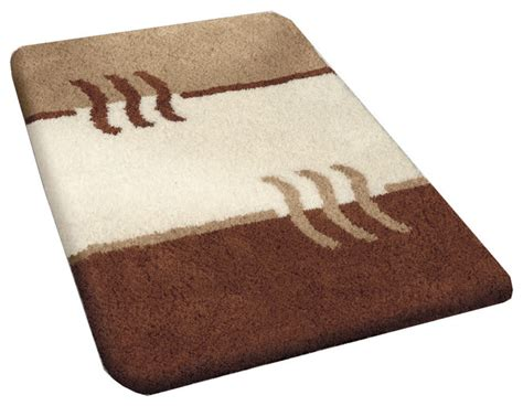 Bamboo Beige Modern Non Slip Washable Bathroom Rug Fiesta Modern Bathroom Rug