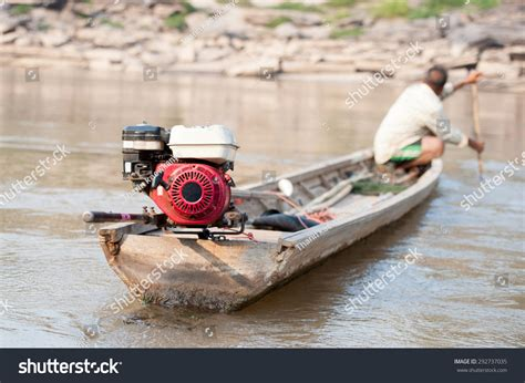 fishing boat engine propeller motor small propeller fishing boat stock photo 292737035