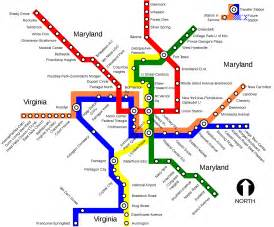 Us Metro Map by Metrorail Washington Metro Map United States
