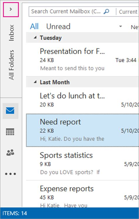 Office 365 Outlook Not Searching Office 365 Outlook 2013 Find A Message With Instant Search