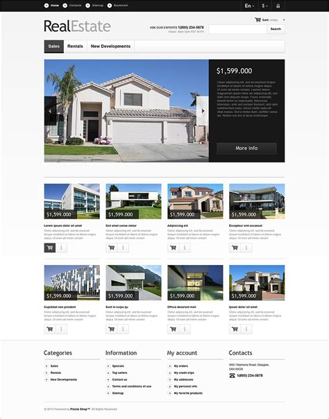 Real Estate Premium Templates real estate prestashop themes templates free premium