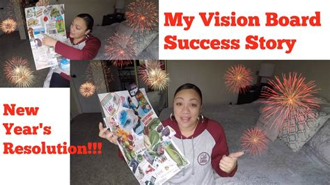 my new year story new years resolutions and my own vision board success