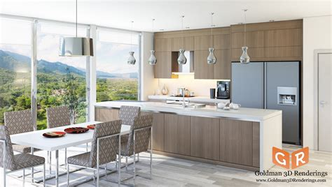 Kitchen Design 3d Architectural Renderings Goldman 3d Architectural Kitchen Designs