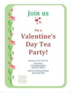 s day tea invitation template word excel templates